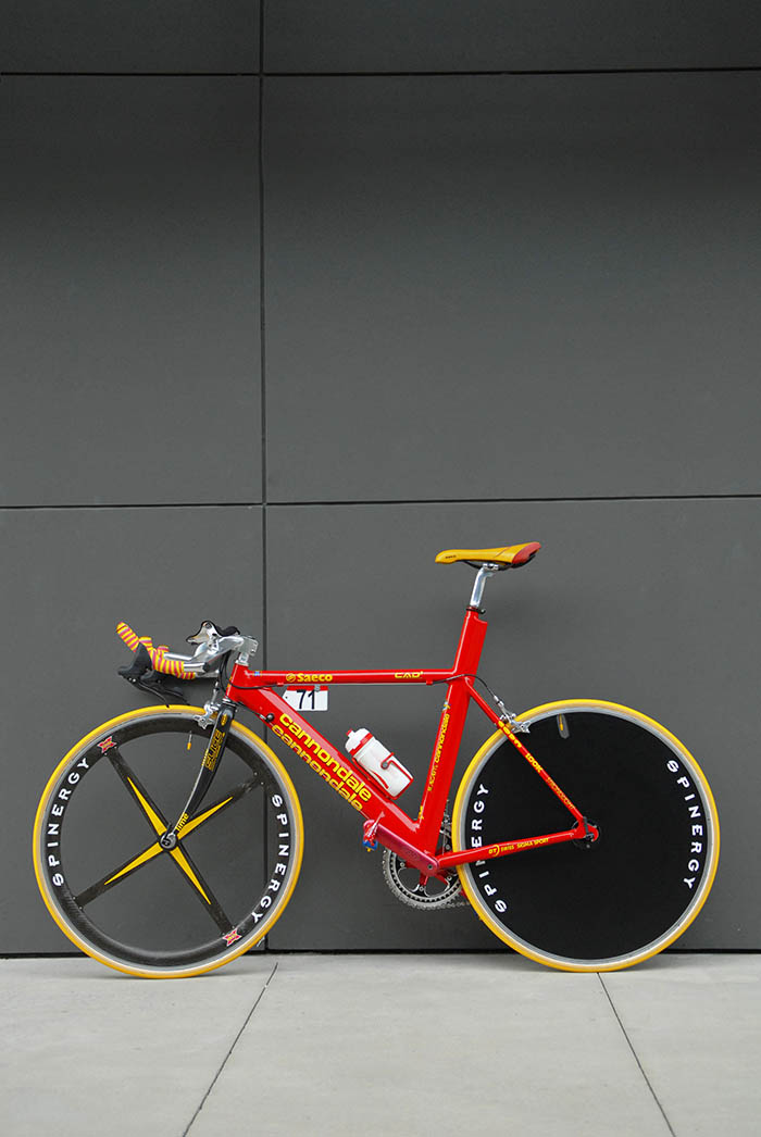 Mario Cipollini's time trial bike or spare bike from 1999 Tour de France.