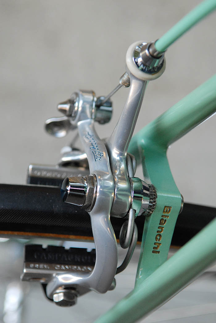 Bianchi stamped into the Silva brake bridge, some X4's simply had X4 engraved into the steel.