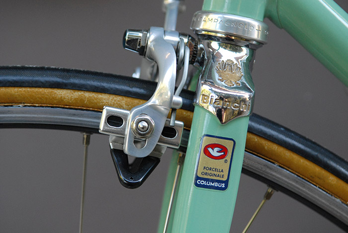 Bianchi supplied Columbus SL fork blades as standard in the X4.