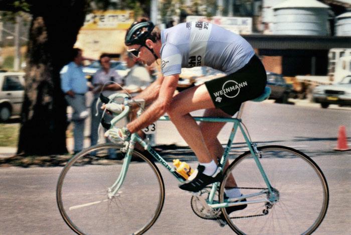 Robert Cobcroft, Bianchi Piaggio Weinmann 1987. Bianchi X4 Specialissima race bike.