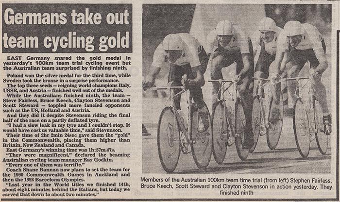 100 km teams time trial australia cycling