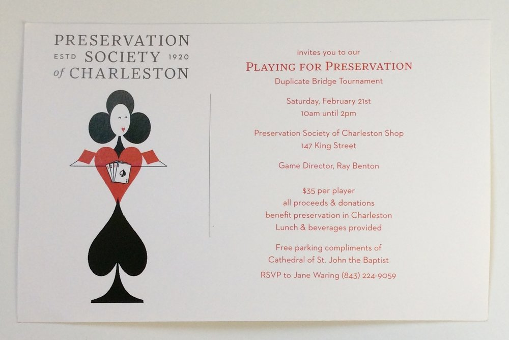 Playing for Preservation Bridge Tournament