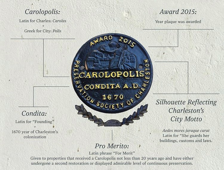 Concept & design of graphic explaining meaning of the Carolopolis Award by Carlye Jane