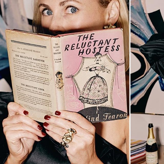 I love it when one of my vintage cookbooks ends up in just the right hands- The Reluctant Hostess never looked more in her element!! 🍾🥂🎀 (More vintage cookbooks available @fritzporterchs #unique #gift ) . The Reluctant Hostess by Ethelind Fearon. Illustrations by Alex Jardin. Copyright 1954. Published by Herbert Jenkins, UK. .  #vintage #cookbook #illustration #instagram #holiday #lookbook #candyshopvintage #charleston #explorechs #shoplocal