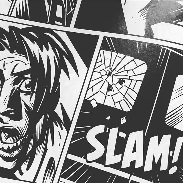Slam! #girlfiend #crime #horror #vampire #noir #romance #thriller #graphicnovel by #panderbros #darkhorsecomics #comics #blackandwhite #illustration #drawing #comicart #popart #art #instamood