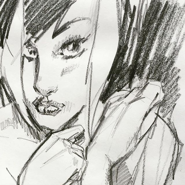 Good morning #girlfiend #horror #romance #vampire #goth #beauty #emo #retro #style #beauty #fashion #illustration #drawing #sketch #graphicnovel by #panderbros from #darkhorsecomics #comicart #drawing #popart #art #instagood #vsco