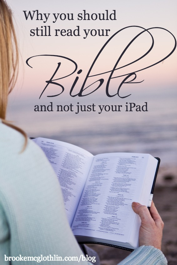 why you should still read your Bible and not just your iPad