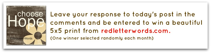 Red Letter Words Comments Graphic