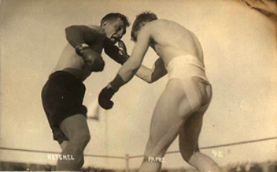 Stanley Ketchel, right, boxing with opponent Billy Papke (1908)