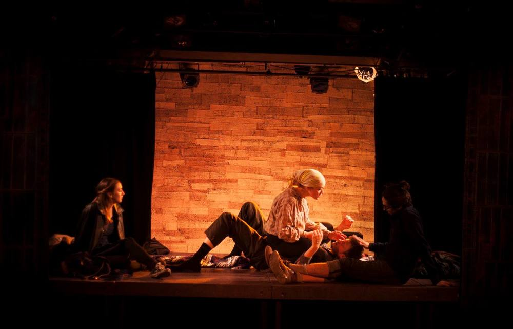 With Sarah Keyes, Finn Kilgore, and Travis Staton-Marrero in  Boxcar,  January 2016 (photo credit Abigail Clark)