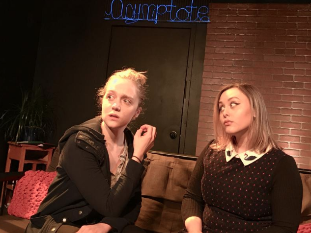 Rose and Natasha (Jenna Kray) consider options.  The New Sincerity,  November 2017.