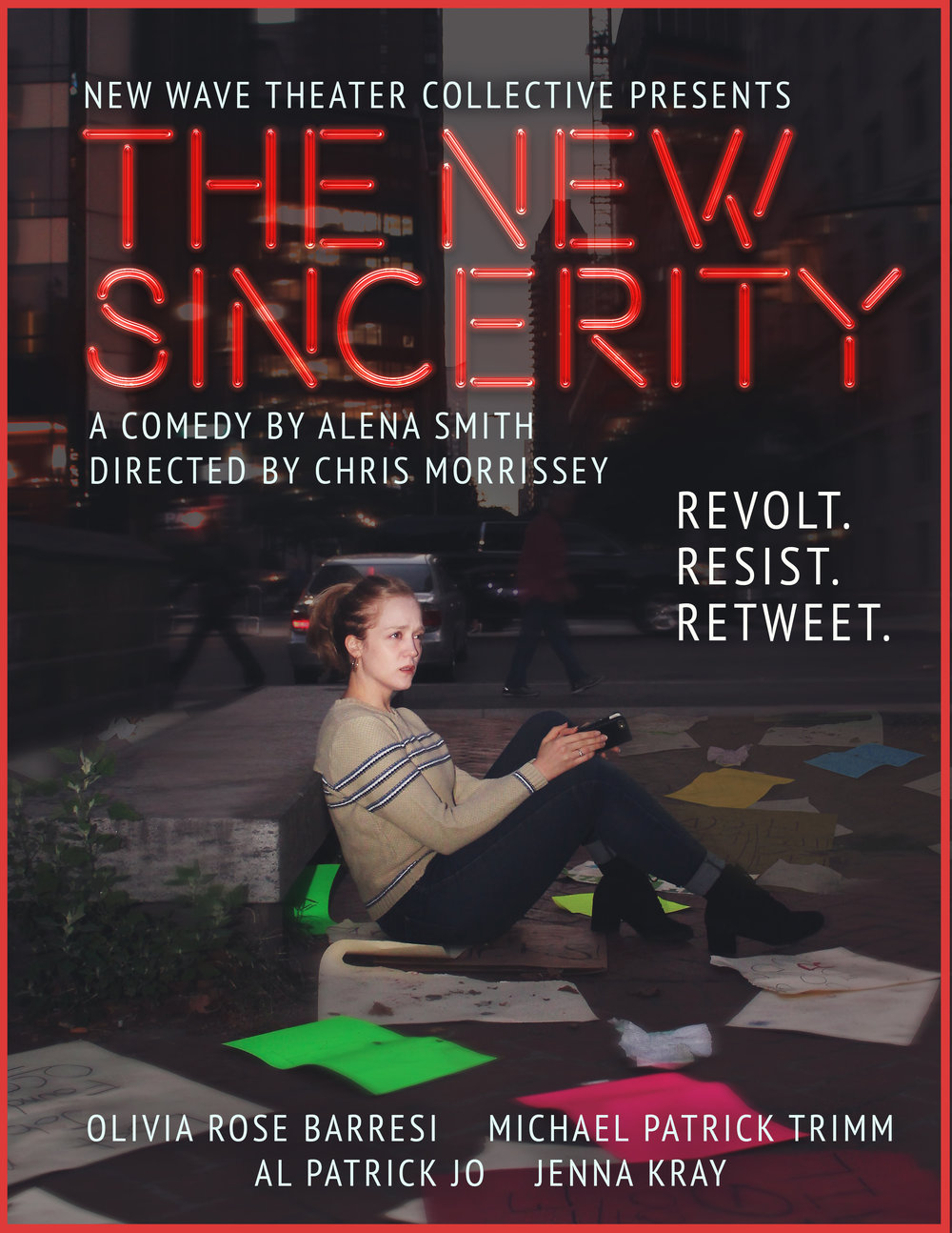 As Rose Spencer in New Wave Theater Collective's production of  The New Sincerity,  November 2017.