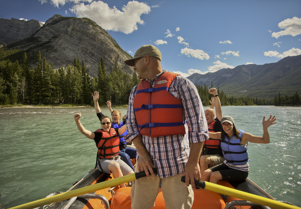 Rafting in Banff National Park