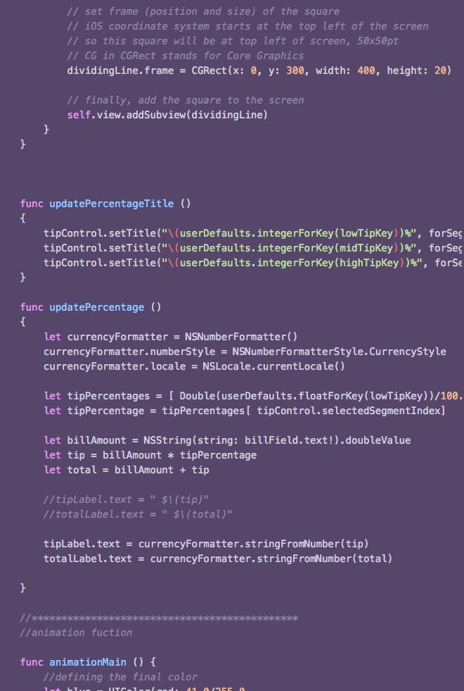 myCulator  Coding Challenge / Swift   Learn More →