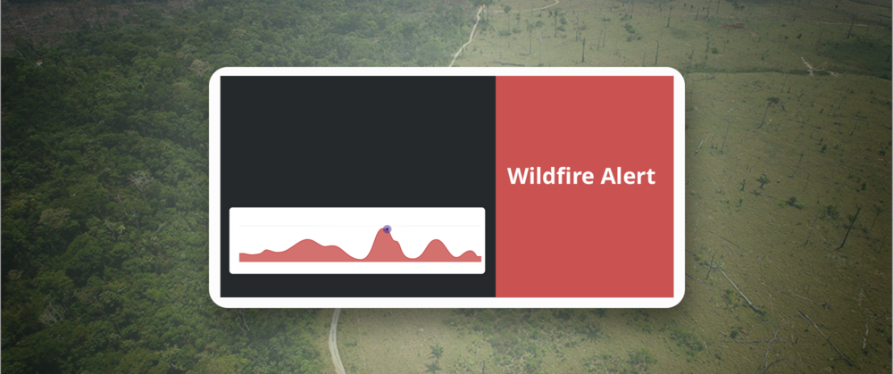 Protecting the Forest  Visualizing the effects of deforestation on wildfires. This project involved creating an ambient dashboard that emphasized the impact of funding in fighting deforestation.   Learn More →