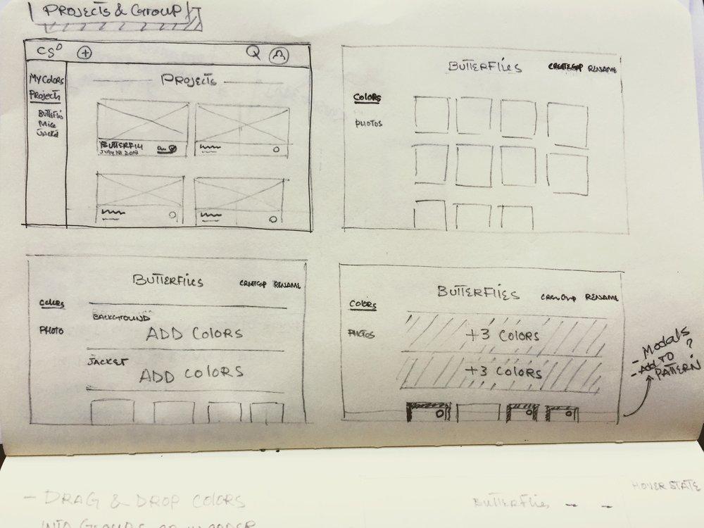 Desktop Paper Sketch