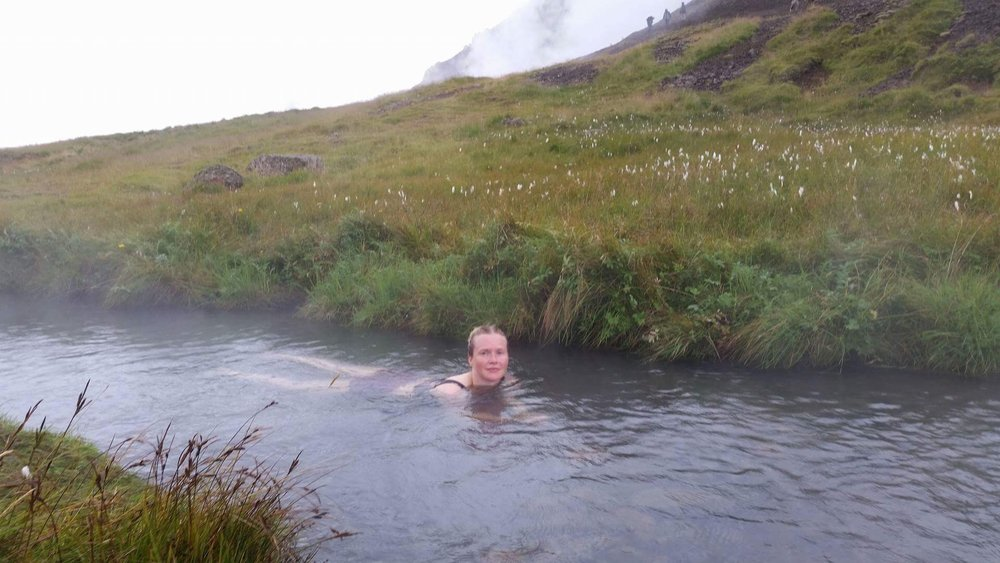 Hot springs in fields.