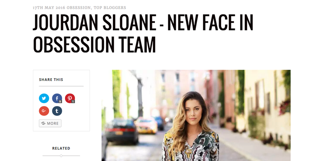 JOURDAN SLOANE OBSESSION4FASHION