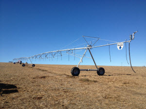 Finished 175m Reinke Centre Pivot Ready for initial testing and irrigation flow