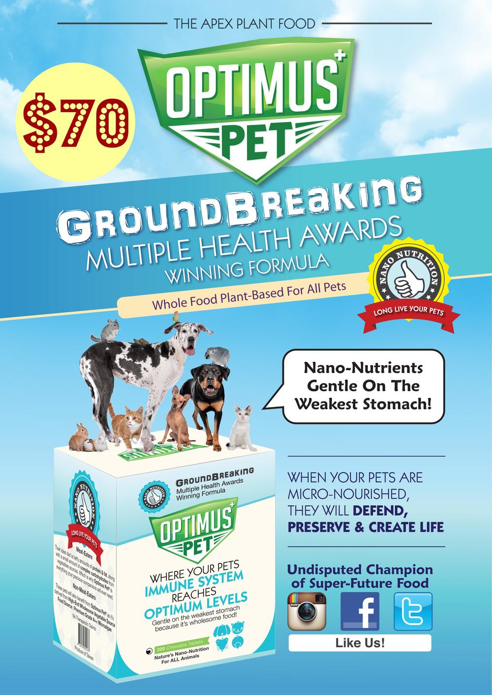 Optimus Pet Flyer. Retail price at SGD 70.