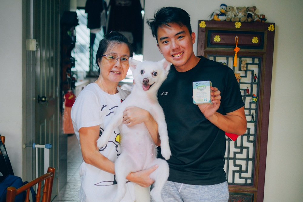 Keane and Miki, the 3 year old Japanese Spitz