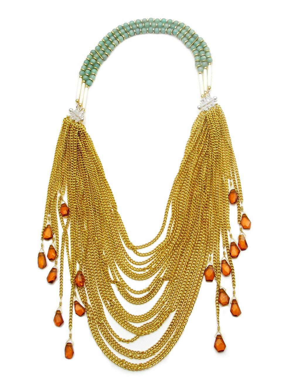 013 Gold Chain Amber Dangle.jpg