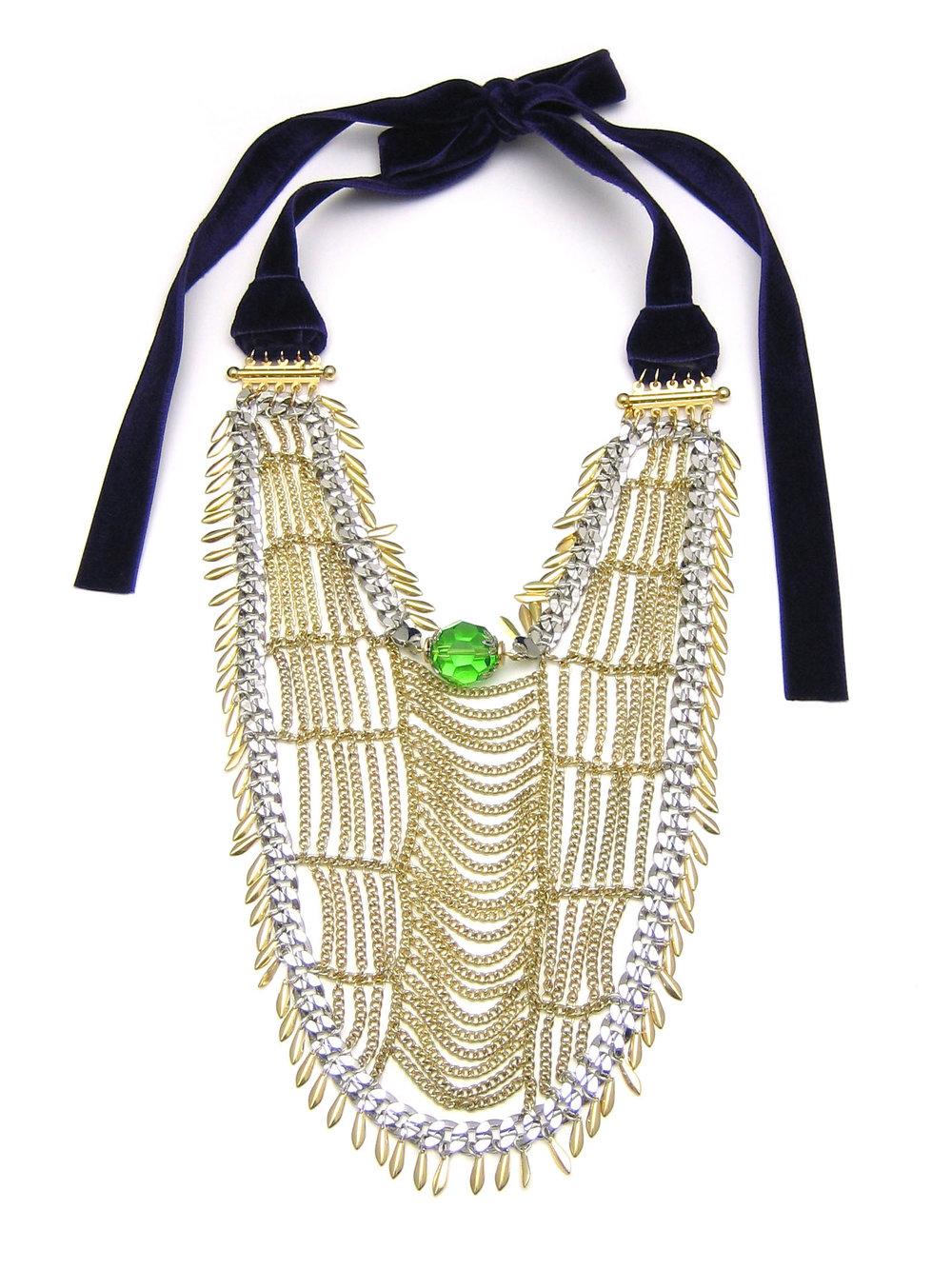 027 Gold Chain Weave Bib.jpg