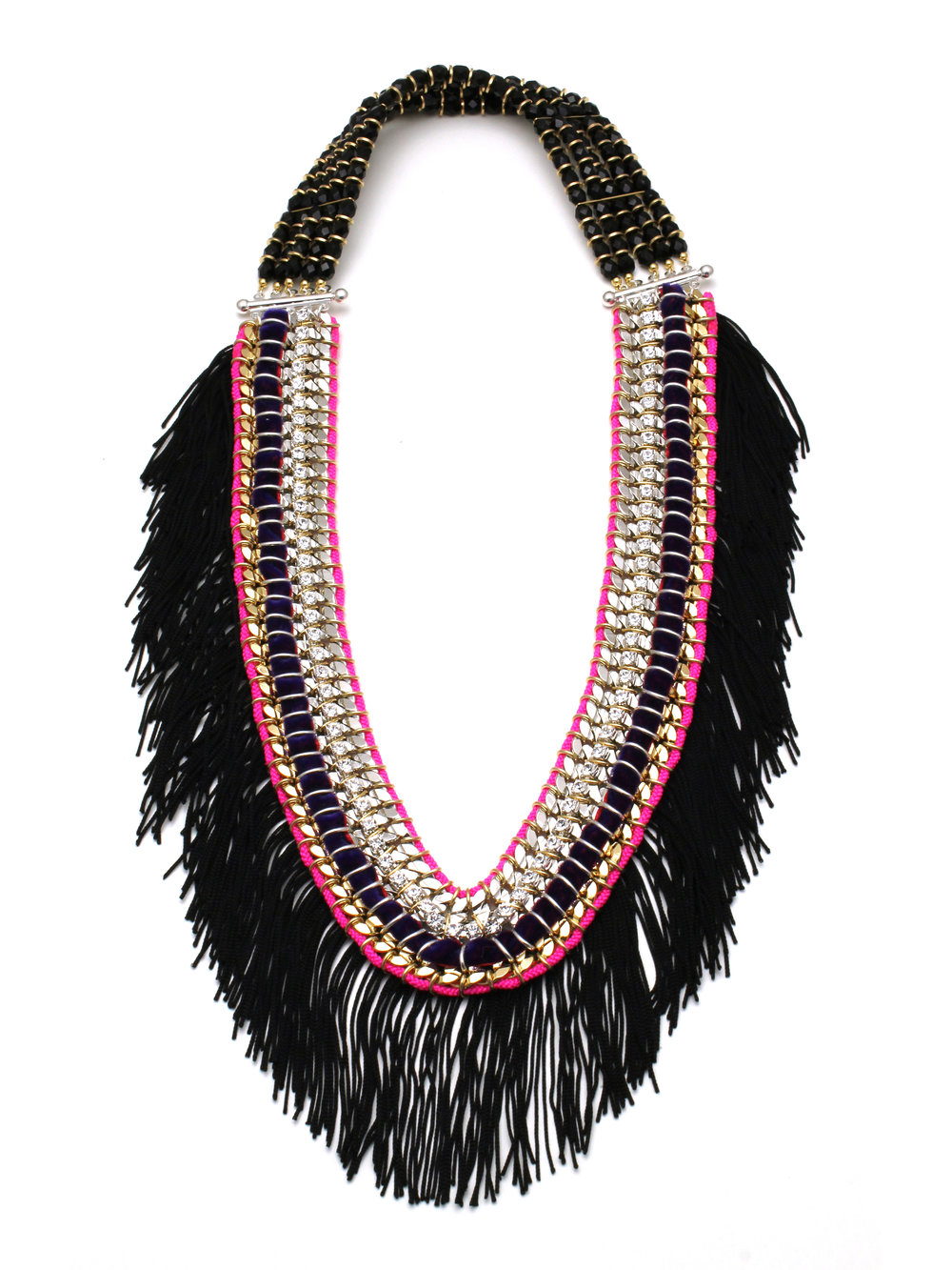 046 - Black Fringe Ribbon Necklace.jpg