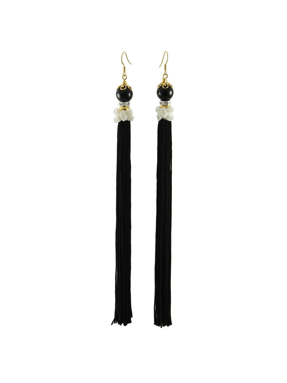 067B - Pearl & Tassel Earrings - Black.jpg