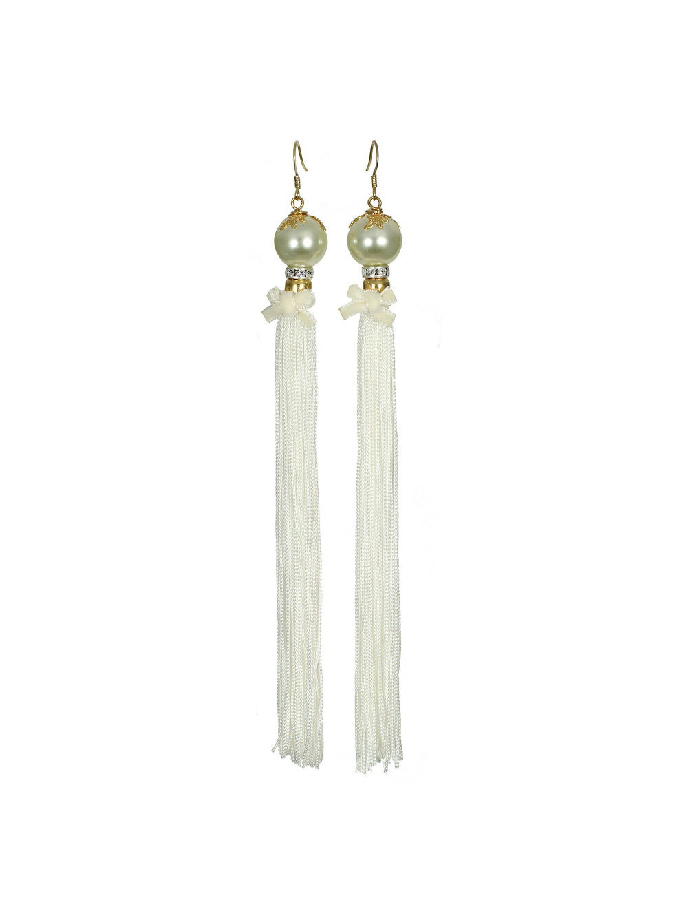 067W - Pearl & Tassel Earrings - White.jpg