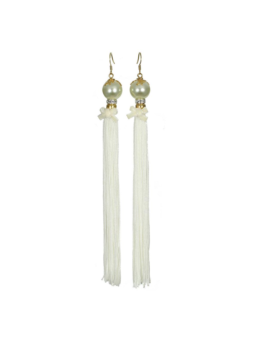 067W - Pearl & Tassel Earrings - White.jpg