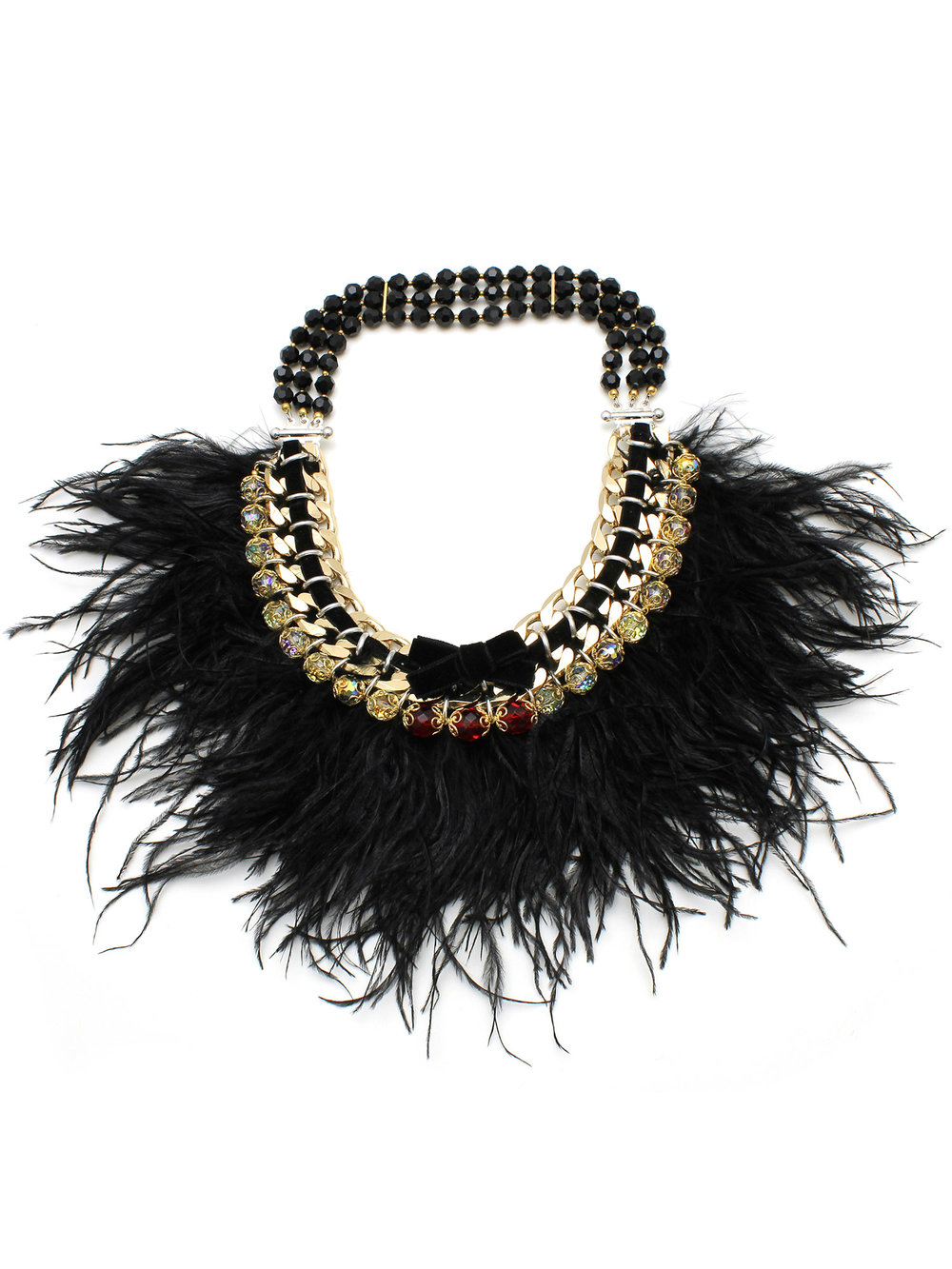 065 - Black Ostrich Feather Necklace.jpg