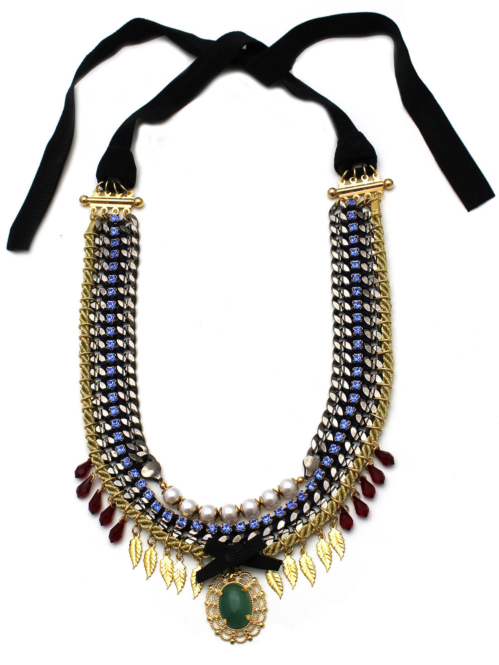 071 - Sapphire & Pearl Leaf Necklace.jpg