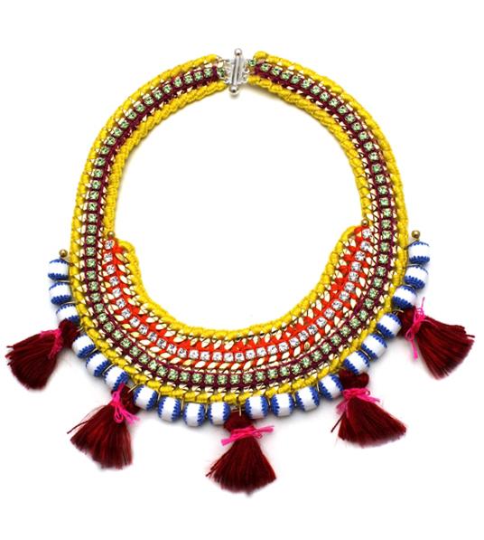 085 Red Tassel Tribal Necklace.jpg