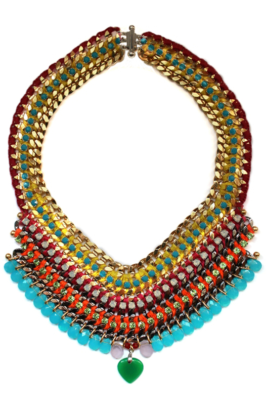 089M Crystal Multicolour V Necklace - Multi.jpg