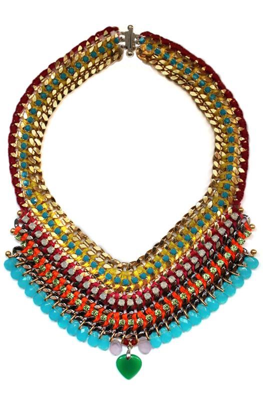 089M Crystal Multicolour V Necklace - Multi.jpg
