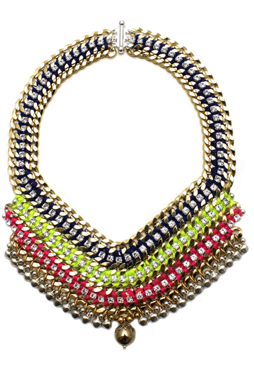 089T Crystal Multicolour V Necklace - Techni.jpg