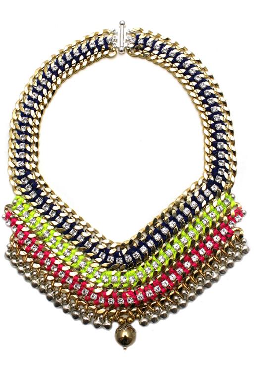 089T Crystal Multicolour V Necklace - Techni.jpg
