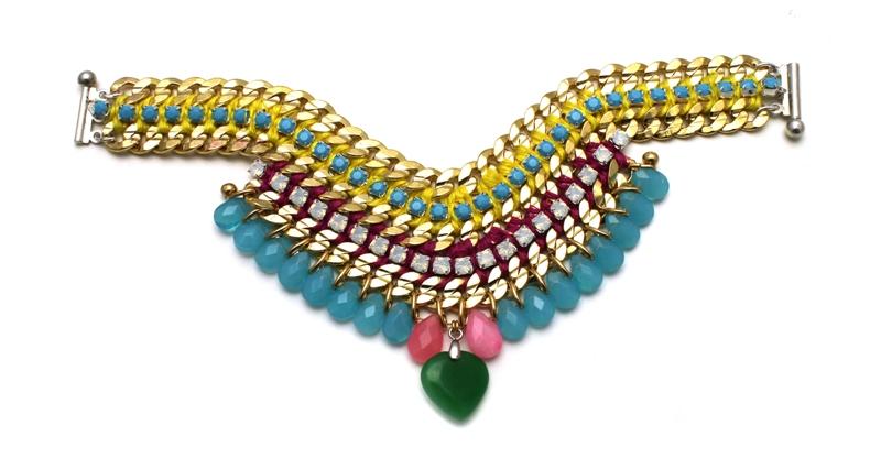 093M Crystal Multicolour V Bracelet - Multi.jpg