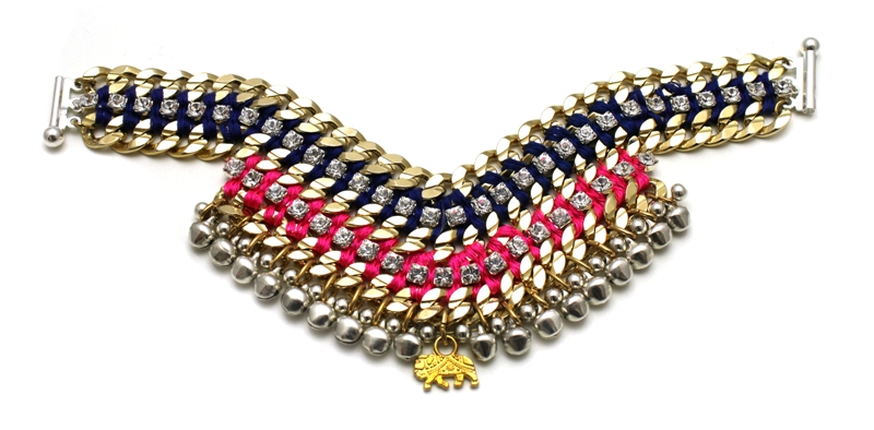093T Crystal Multicolour V Bracelet - Techni.jpg