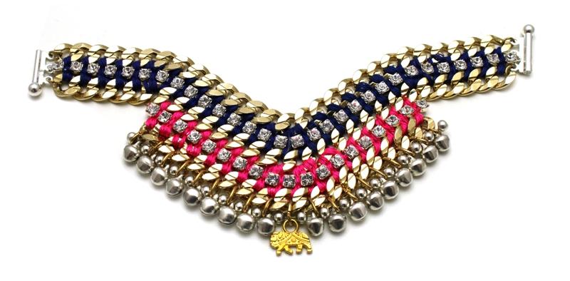 093T Crystal Multicolour V Bracelet - Techni.jpg