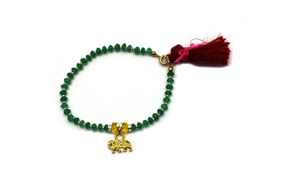 095G Red Tassel Charm Bracelet - Green Onyx.jpg
