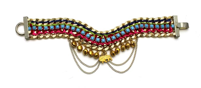 092TP Turquoise & Pink Bell Bracelet.jpg