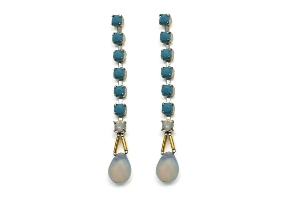 100TO Gemstone & Crystal Drop Earrings - TurquoiseOpal.jpg