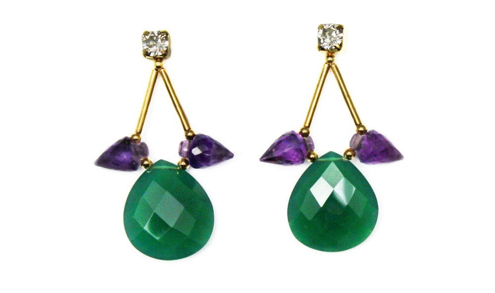 129G - Spiked Teardrop Earrings (GreenPurple).jpg