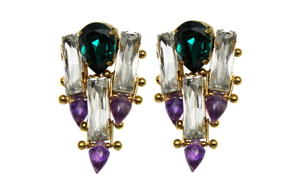 131CP - Triple Spike Earrings (CrystalPurple).jpg
