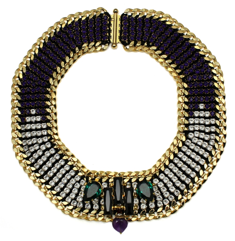 110P - Graphic Deco Embellished Necklace (Purple).jpg