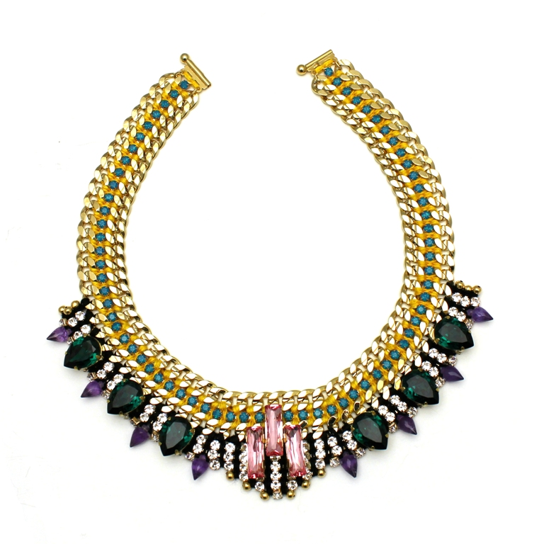 113 - Midnight Tropic Embellished Spiked Necklace.jpg