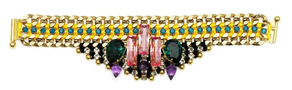 122 - Midnight Tropic Embellished Spiked Bracelet.jpg