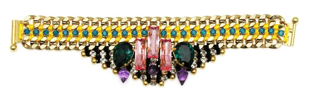 122 - Midnight Tropic Embellished Spiked Bracelet.jpg